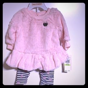 Juicy Cotoure pant and sweater set pink 3-6 months